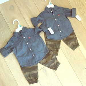 6m Carters twin boy outfits